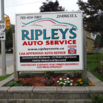 Ripleys Auto Service Sign