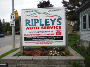 Ripleys Auto Service Sign