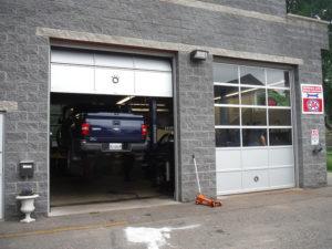 Ripleys Auto Service Location, Truck on hoist